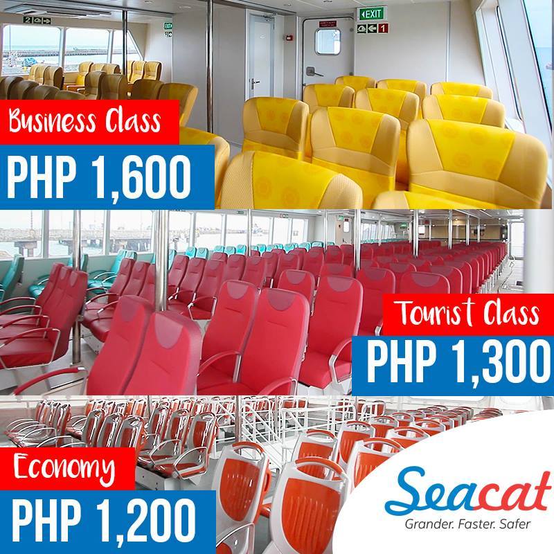 Fare rates of each Accommodation (Sea Cat: Cebu to Calbayog)
