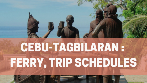 Cebu-Tagbilaran, Ferry and Trip Schedule banner