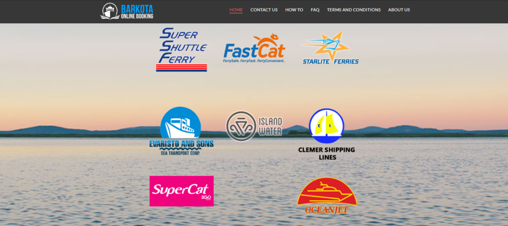 Barkota Ferry Online Booking Website Screenshot