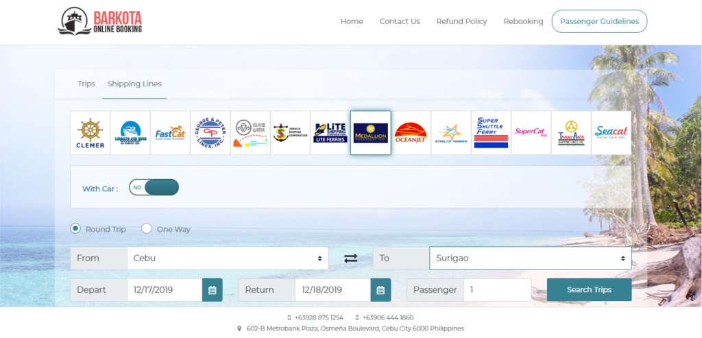 Snapshots of Barkota website with Medallion logo