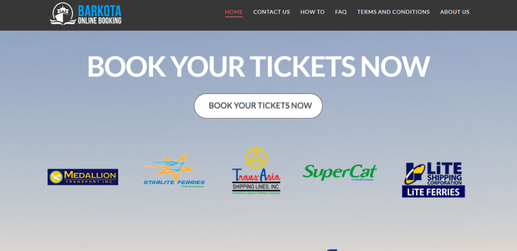 Online Booking Website for OceanJet's Cebu to Tagbilaran route