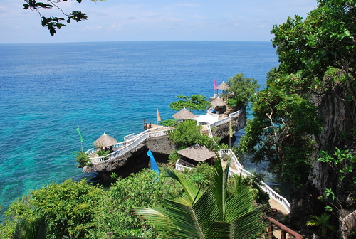 aerial view of Buho Rock Resort in Camotes Island