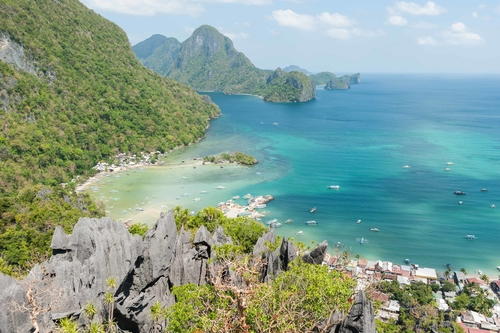 View of El Nido Island from Taraw Cliff