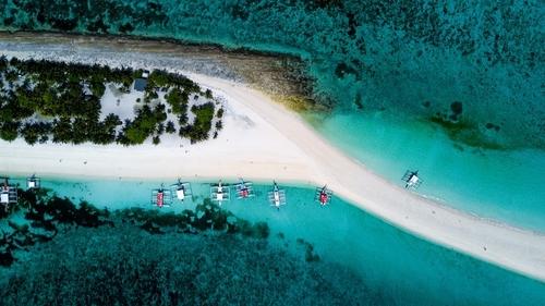 aerial shot of kalanggaman island in palompon