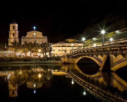 roxas city bridge at night