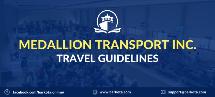 medallion transport inc. travel guideline text thumbnail