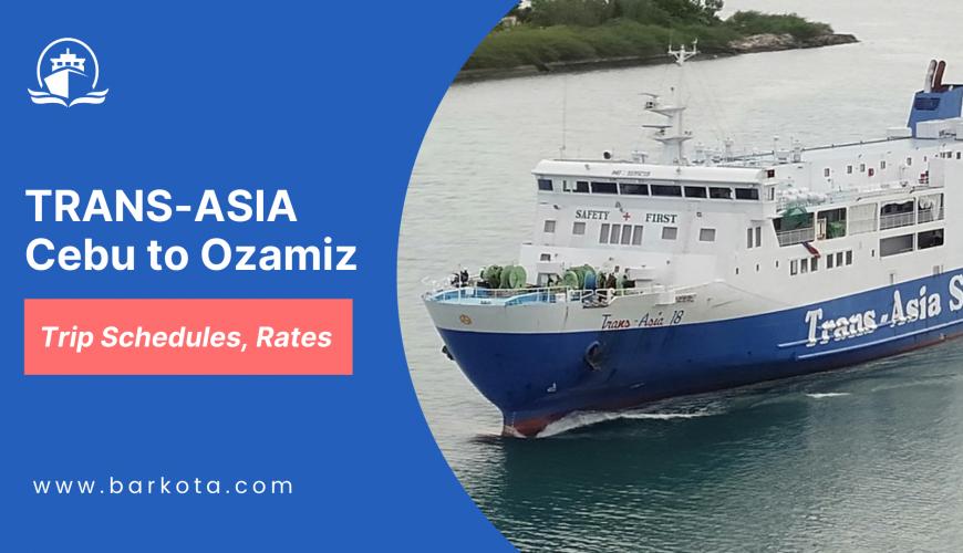 trans-asia cebu to ozamiz ferry