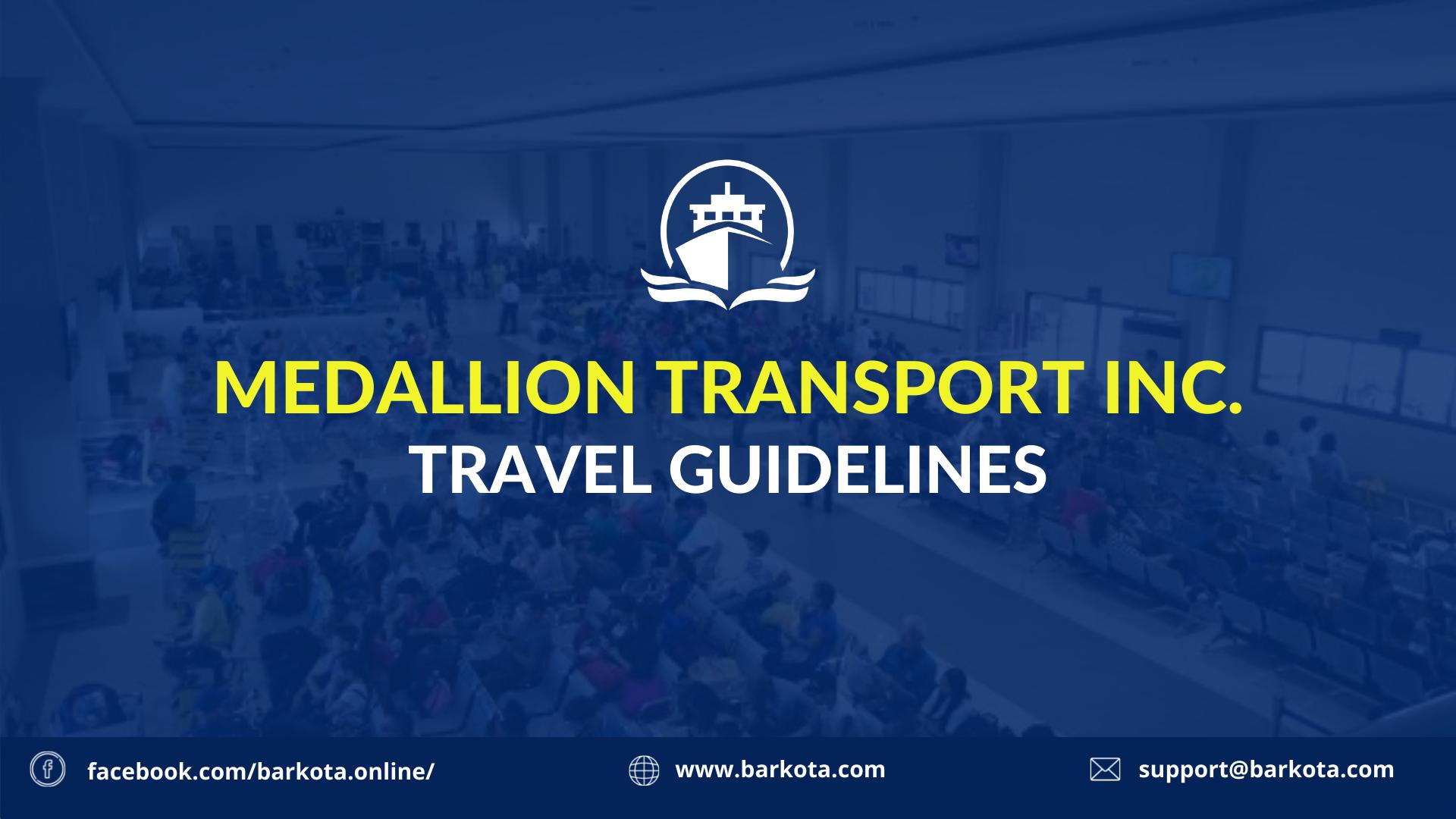 medallion transport travel guidelines