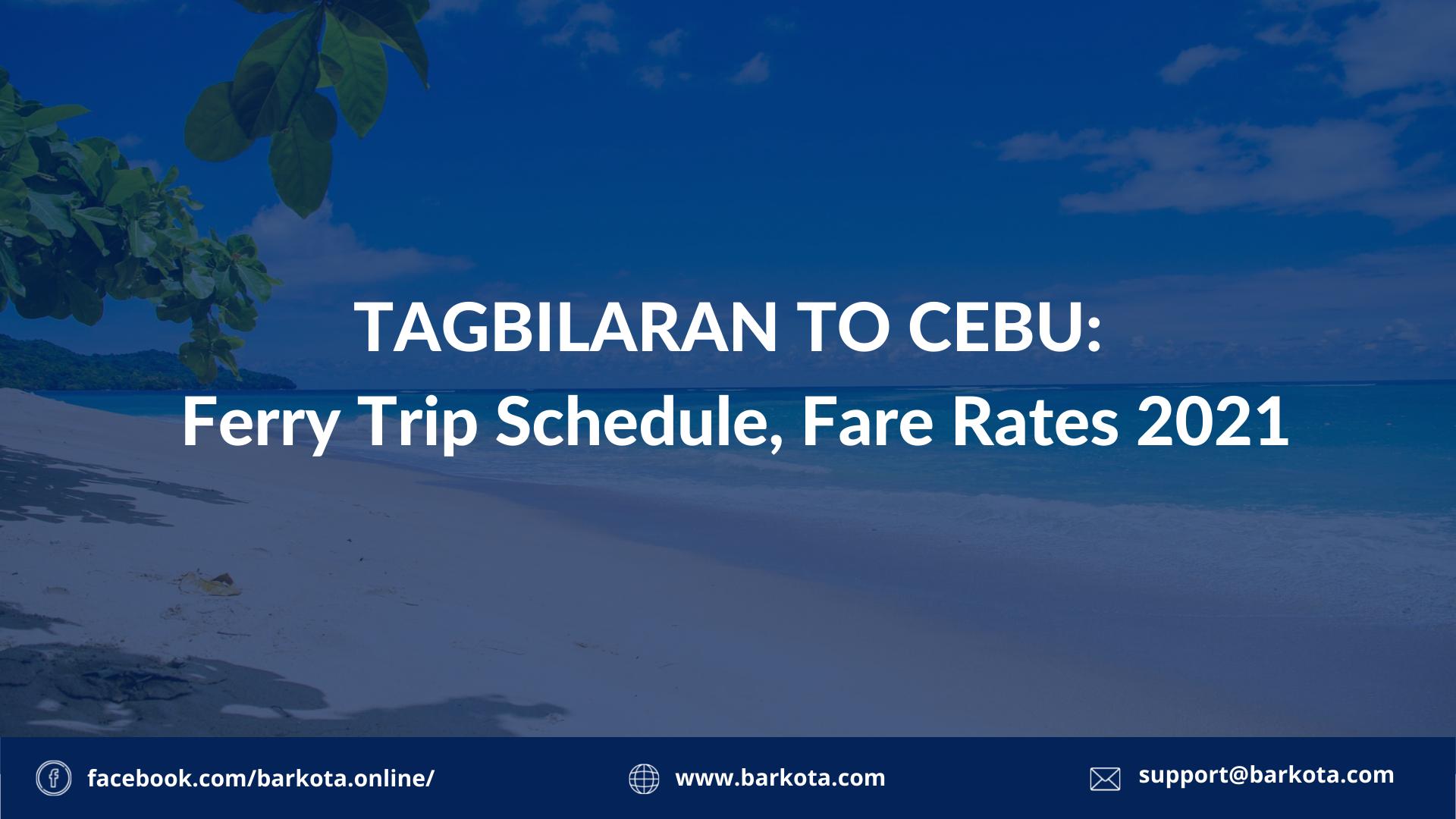 tagbilaran to cebu ferry schedule
