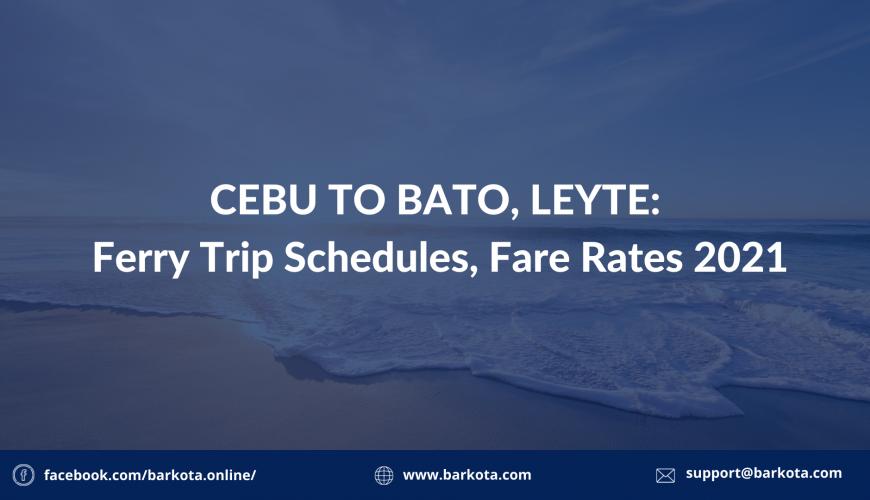 cebu to bato ferry schedule