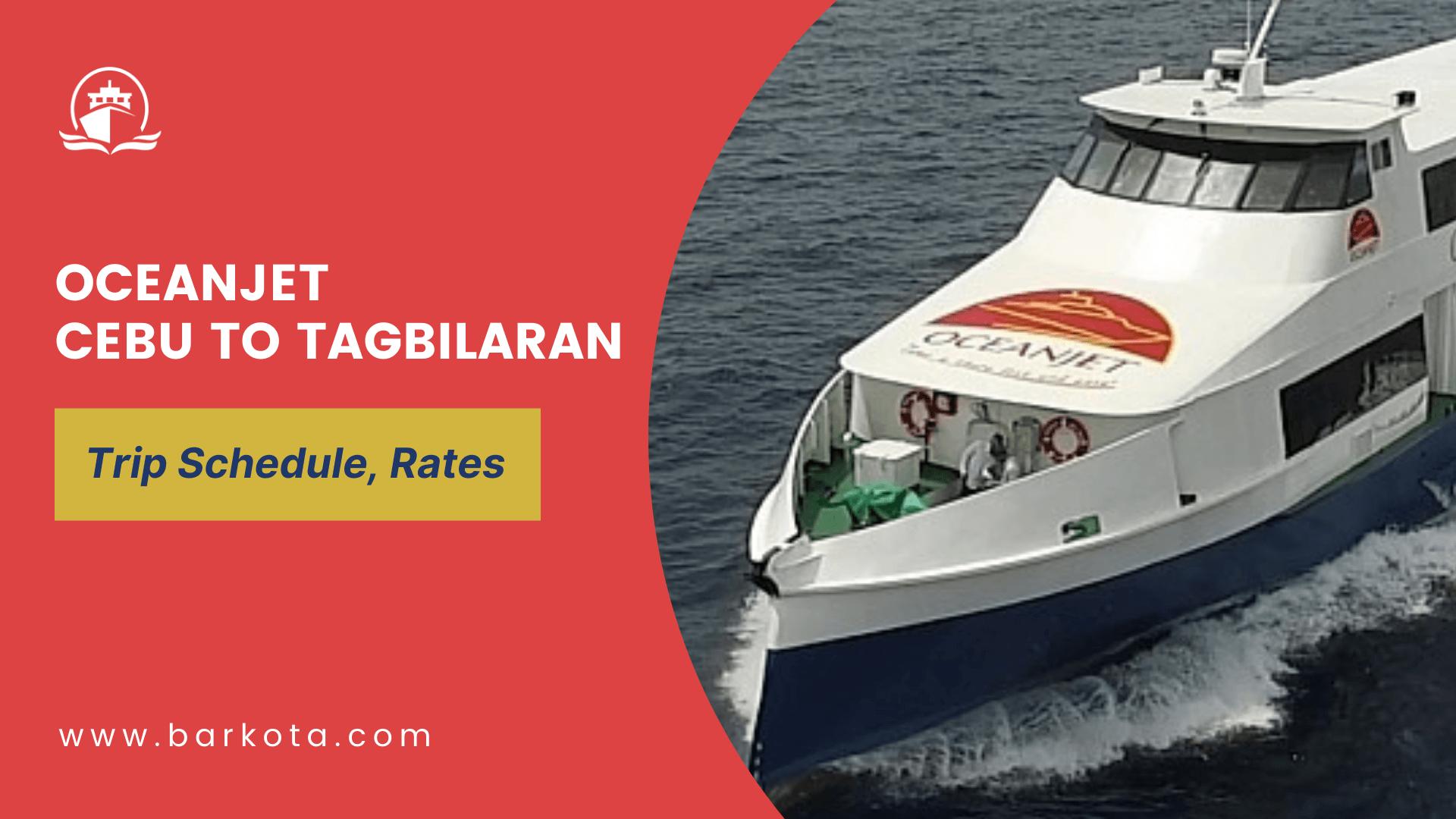 oceanjet cebu to tagbilaran ferry