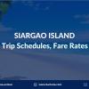 siargao ferry schedule